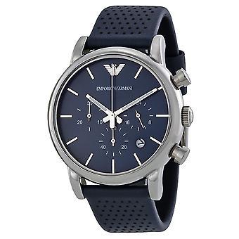 Emporio Armani chronographe en cuir classique Mens Watch AR1736