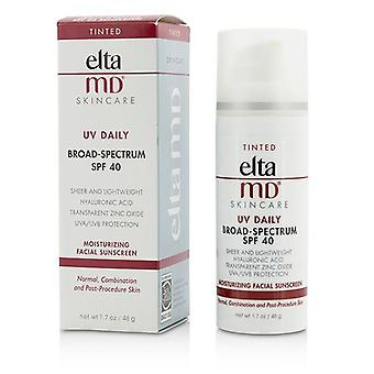 Eltamd Uv Daily Moisturizing Facial Sunscreen Spf 40 - For Normal Combination & Post-procedure Skin - Tinted - 48g/1.7oz