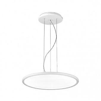 Integrated Led 1 Light Large Ceiling Pendant White