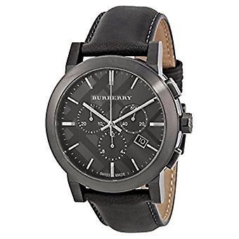 Burberry Bu9364 Chronograph mörkgrå läder Menâs Watch