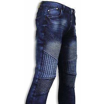 Jeans - Slim Fit Biker Jeans All Ripped Biker - Blue