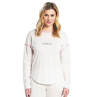 Féraud 3191047-11697 Women's Casual Chic Ivory Off White Cotton Loungewear Sweatshirt