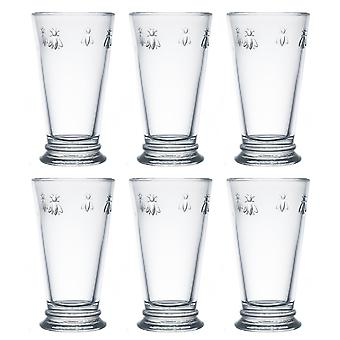 La Rochere set van 6 Bee Highball glazen, 46cl