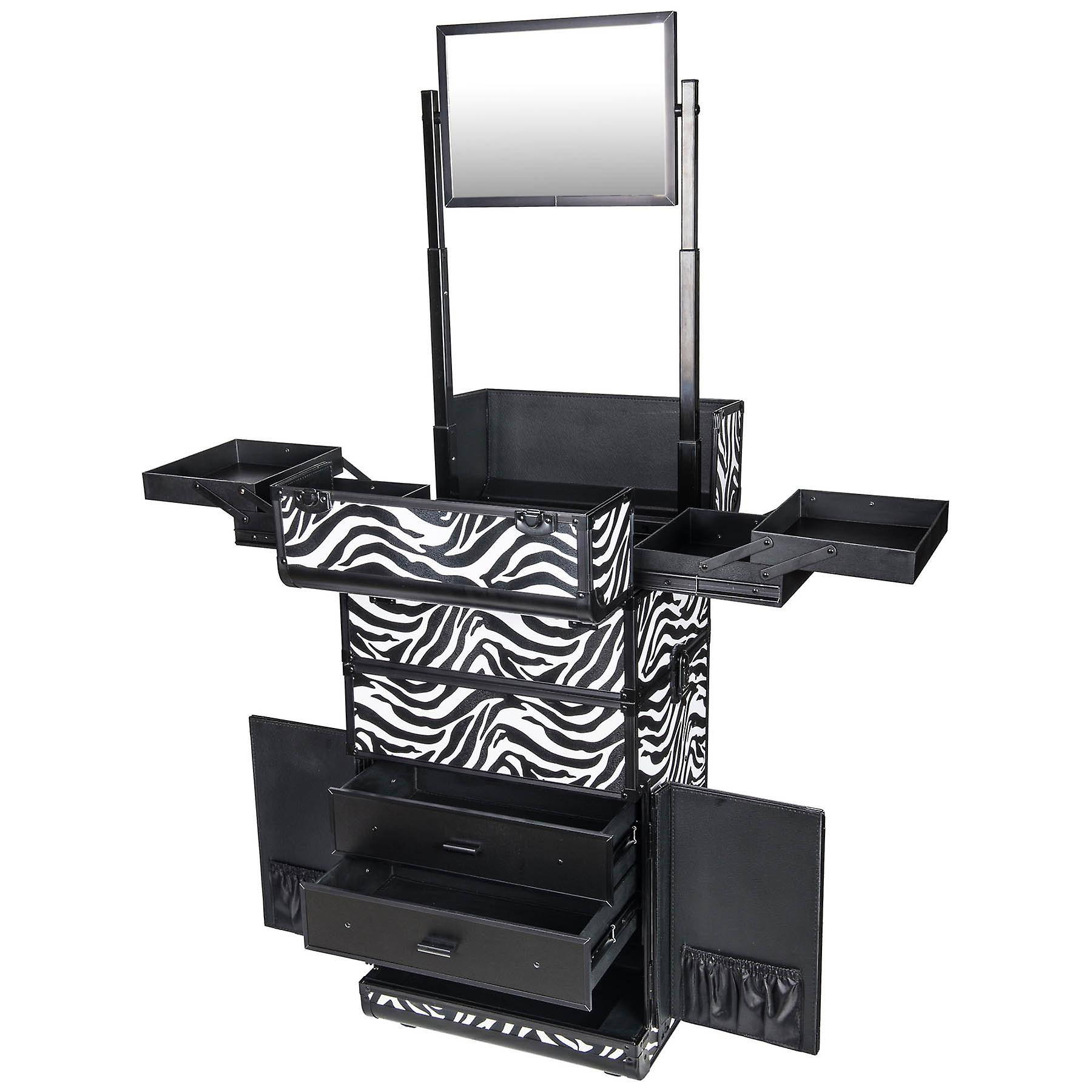 SHANY REBEL Series Pro Makeup Artists Rolling Train Case Trolley Case