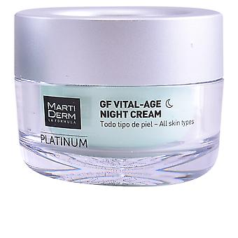 Martiderm Platinum Gf Vital Age Night Cream 50 Ml Unisex