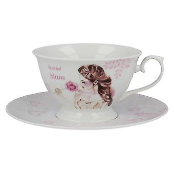 Lesser & Pavey Vintage Lane Mum Cup & Saucer LP33136