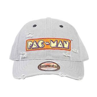 Pac man Baseball Cap Distressed Demin logo nieuwe officiële grijze Strapback