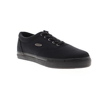 Lugz Vet Mens Black Canvas Low Top Lace Up Sneakers Shoes