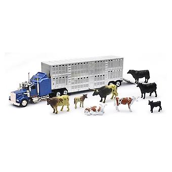 Livestock Hauler with Farm Animals Set