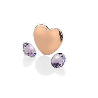 Anais Hot Diamonds Anais Rose Gold Plated Sterling Silver February Charm AC034