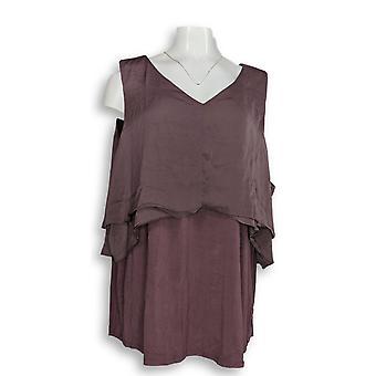 H بواسطة هالستون المرأة & ق بالإضافة إلى أعلى الأكمام Knit تتالي الأرجواني A275408