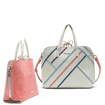 Desigual Women's White Arianne Hamar Reversible Large Bag & Matching Messenger