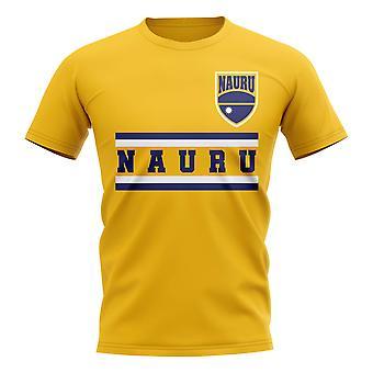 ناورو الأساسية لكرة القدم البلد تي شيرت (أصفر)