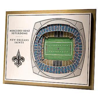YouTheFan Wood Wall Decoration Stadium New Orleans Saints 43x33cm