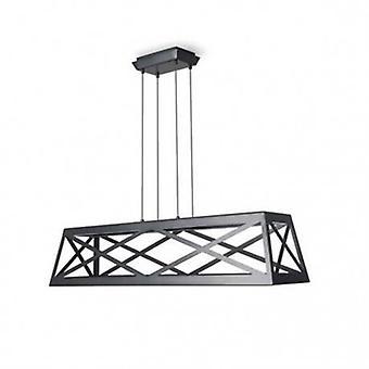 Led Ceiling Pendant Light Black - Rectangle Frame