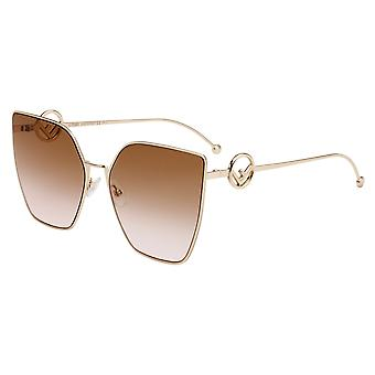 Fendi Signature-F Is FF0323/S S45/M2 Pink Gold/Brown Gradient Sunglasses