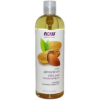 Nå Foods Almond olje Pure 473 ml