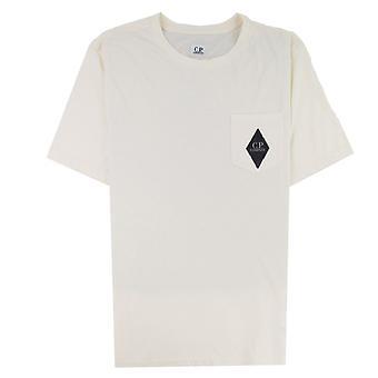 CP Company Diamond Pocket T-shirt Off White 103