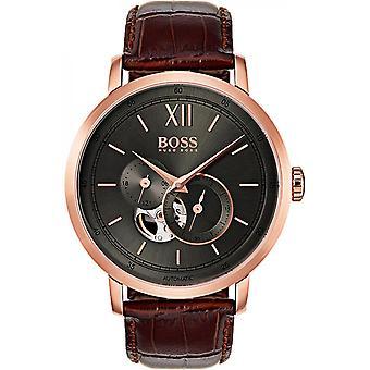 Hugo Boss 1513506 - horloge automatische leder bruin man