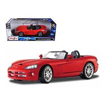 2003 Dodge Viper SRT-10 Red 1/18 Diecast Model Car de Maisto