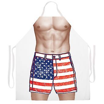 American Flag Shorts delantal