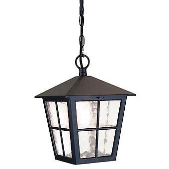 Elstead Beleuchtung Canterbury Medium IP43 Kette Laterne In schwarz