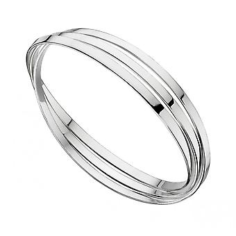 Joshua James Motive Silver 3 Row Bangle