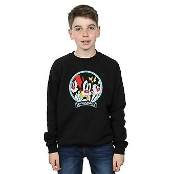 Animaniacs Boys Fisheye Group Sweatshirt