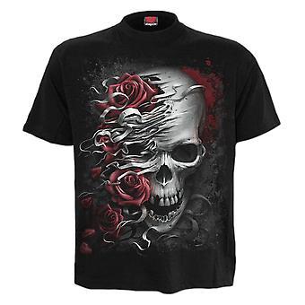 Spiral Skulls N' Roses T-paita