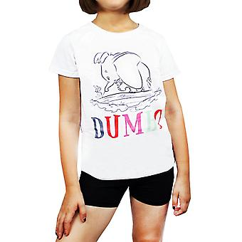 Disney Dumbo Sketch Characters Girl's/Kid's T-Shirt 3-14 Years
