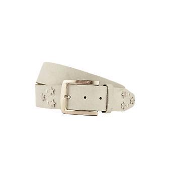 Cheerful Light Grey Women's Belt With Studs