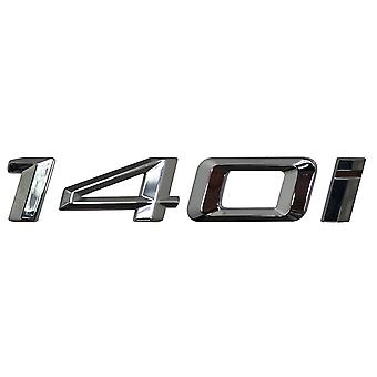 Silver Chrome BMW 140i Car Model Rear Boot Number Letter Sticker Decal Badge Emblem For 1 Series E81 E82 E87 E88 F20 F21 F52 F40