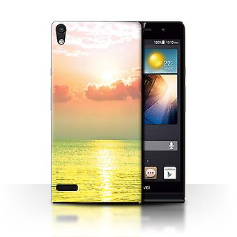 STUFF4 Case/Cover for Huawei Ascend P6/Sea/Sunset/Vivid Ombre