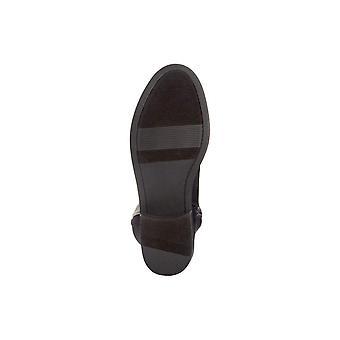 Material menina mulheres Darcell tecido amêndoa Toe joelho alta moda botas