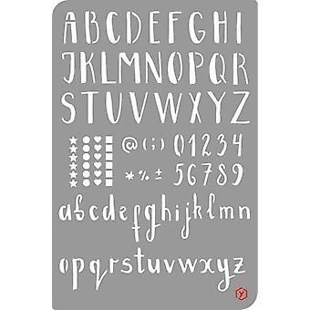 Pronty Bullet Journal Stencil  Alphabet/Numbers 470.851.000 12x18cm