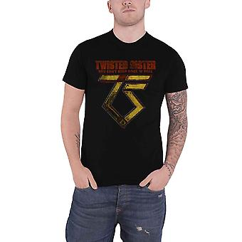 Twisted Sister T Shirt You Can't Stop Rock n Roll new Official Mens Black