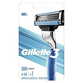 Gillette 3 men's razor handle, 2 ea
