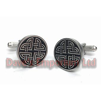 Celtic Knot Cufflinks - by Onyx Art - Gift Boxed - Ladies Unisex Celt Cuff Links
