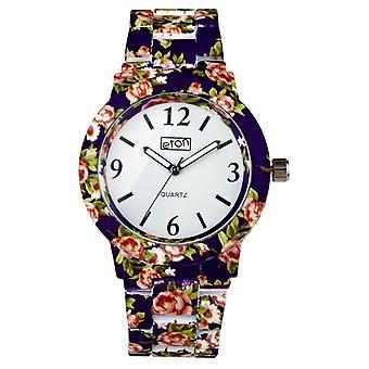 Eton Purple Chintz Floral Print Bracelet Fashion Watch 3174J-PL