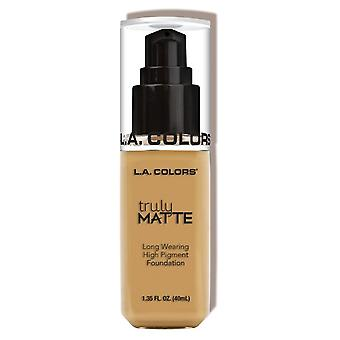 L.A. Colors Truly Matte Foundation Nude