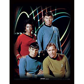 Star Trek Kirk Spock Uhura & Bones Framed Plate 30 *40cm