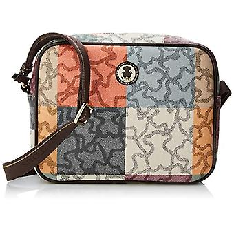Tous Bandolera Kaos Cuadrados - Multicolored Women's Messenger Bags (Naranja/Marr n)