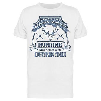 Huntin med en chans att Drinkin Tee Men & apos; s -Bild av Shutterstock Men & apos; s T-shirt