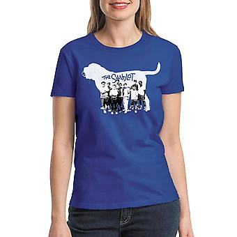 The Sandlot Cast Dog Graphic Women's Royal Blue T-shirt