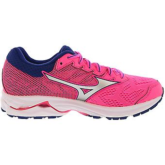 Mizuno Womens Wave Rider 21 stof laag top Lace up running sneaker