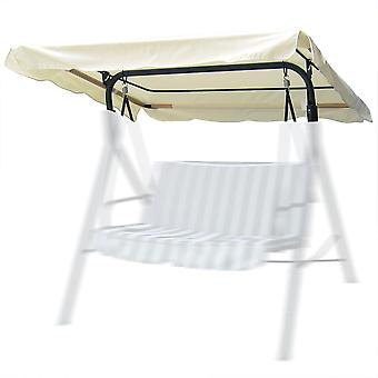 "Yescom 72 13/16""L x 53 9/16""W Outdoor Swing Canopy Replacement UV30+ 180gsm Top Cover for Park Seat Patio Yard Ivory"