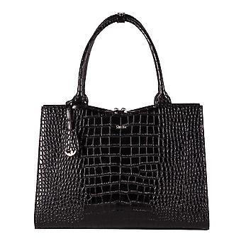 SOCHA Women's Handbag Crocodile 44 cm, Black