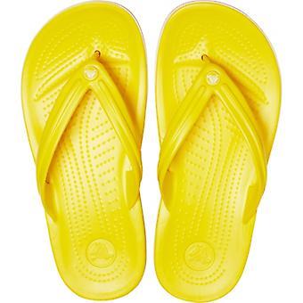 Crocs Crocband Flip 11033 Мужчины Флип Флоп Лимон / белый