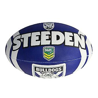Steeden NRL Canterbury Bankstown Bulldogs Supporter 2020 Rugby Ball Blue/White