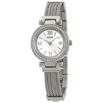 Guess W1009L1 Mini Soho Crystal Silver Dial Ladies Watch